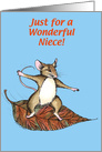 Niece Thanksgiving Mouse card