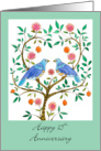 Blue Doves 15th Anniversary card