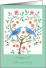 Blue Doves 20th Anniversary card
