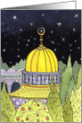 Eid al Fitr Golden Mosque card