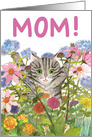 Thinking of You, Mom! Striped Kitty card