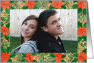 Poinsettia Christmas Photo Card