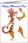 Happy Birthday & Memorial Day Tiger card