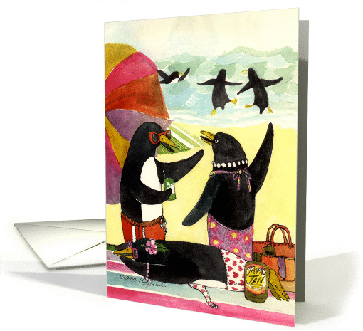 Penguin Beach - invitation card (101284)