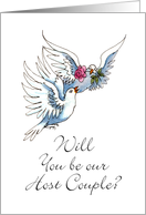 Will you be our Host Couple?-Love Doves card