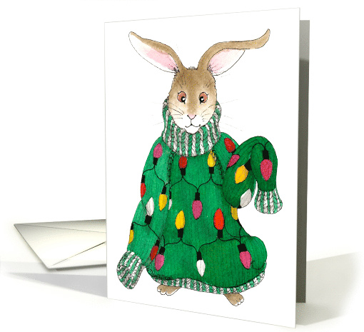 Ugly Christmas Sweater Bunny card (1174420)