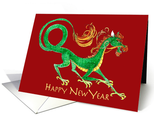 Happy New Year, Red Asian Dragon card (1415682)