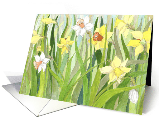 Easter for Mom Daffodil Fields card (152399)