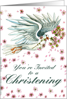 Dove Invite - Christening card