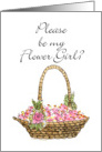 Basket - Flower Girl? card