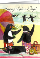 Penguin Beach, Labor Day Card