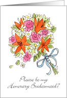 Honorary Bridesmaid? Bouquet card