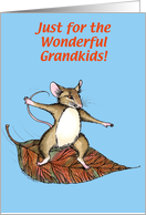Thanksgiving Mouse, Grandkids card