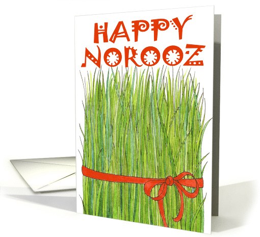 Happy Norooz - Grass card (373511)