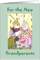 Happy 1st Grandparents Day Bunny Family card