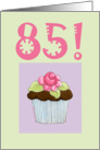 Rose Cupcake Invite 85 birthday card