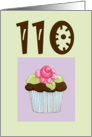 Rose Cupcake Invite 110 birthday card