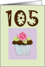 Rose Cupcake Invite 105 birthday card