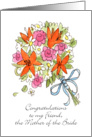 Congratz Friend, Bride's Mom Bouquet card