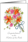 Congratz Bride's Mom Bouquet card