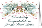 Christening Congratz Twin Doves card