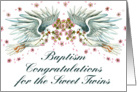 Baptism Congratz Twin Doves card