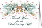 Twin Doves Christening Thanks card