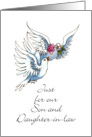 Vow Renewal Congrats, Son & Daughter-in-law, 2 Doves card