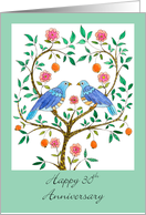 Blue Doves 30th Anniversary card