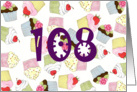 Cupcakes Galore 108th Birthday card