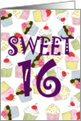Cupcakes Galore Sweet 16th Birthday card