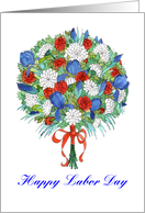 Labor Day Patriotic Bouquet card