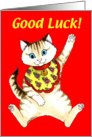 Lucky Cat, Good Luck card