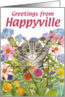 Happyville, Striped Kitty card