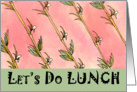 Lunch Invitation Bamboo card