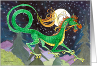 Starry Night Dragon New Year card