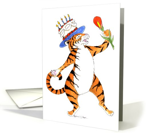 Singing Tiger Birthday Party Invitation card (907304)