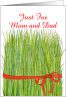 Norooz, Wheat Grass for Parents card