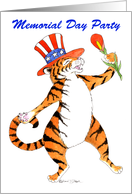 Memorial Day Party Invite, Tiger card