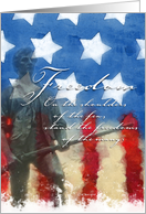 Freedom - Veteran's Day Card
