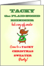 Tacky Christmas Sweater Party - Humor Reindeer card