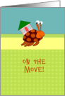 Cute Hermit Crab - on the move card