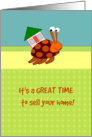 Cute Hermit Crab - great time to sell your home - for realtors card