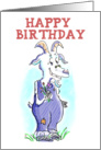 Happy Birthday From a Horny Old Goat card