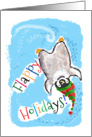 Cute Baby Penguin Humor Flappy Holidays Happy Holidays card
