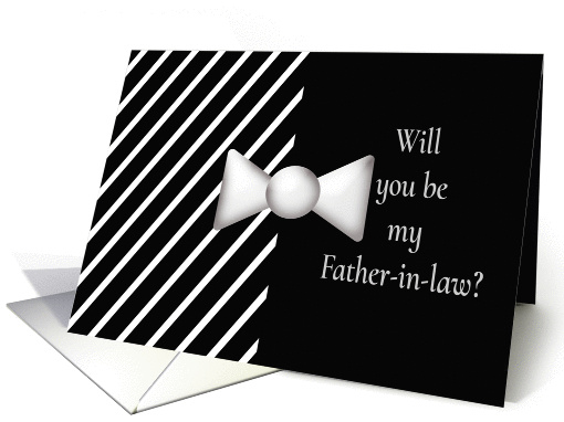 Will you be my Father-in-law Tie card (390585)