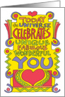 The Universe Celebrates Your Birthday card
