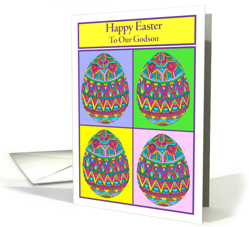 Happy Easter to Our Godson Egg Quartet card (1045453)