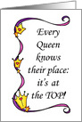 Every Queens Place is at the Top! Mother's Day card