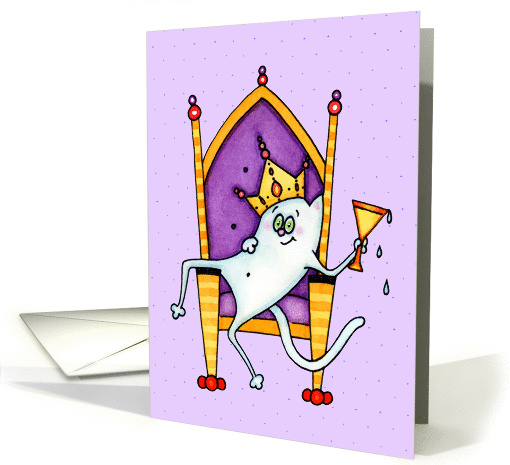 King or Queen Cat Congratulations card (1126220)